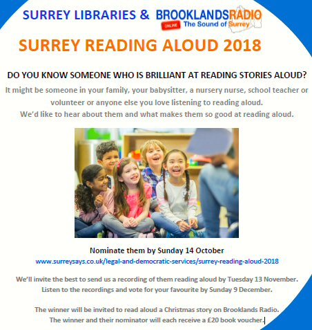 Surrey Libraries Reading Aloud Competition